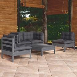 vidaXL Persiana enrollable 160x140 cm a rayas gris antracita y blanca
