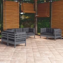 vidaXL Valla de jardín de madera de pino impregnada 5,1m 150cm 6/9cm