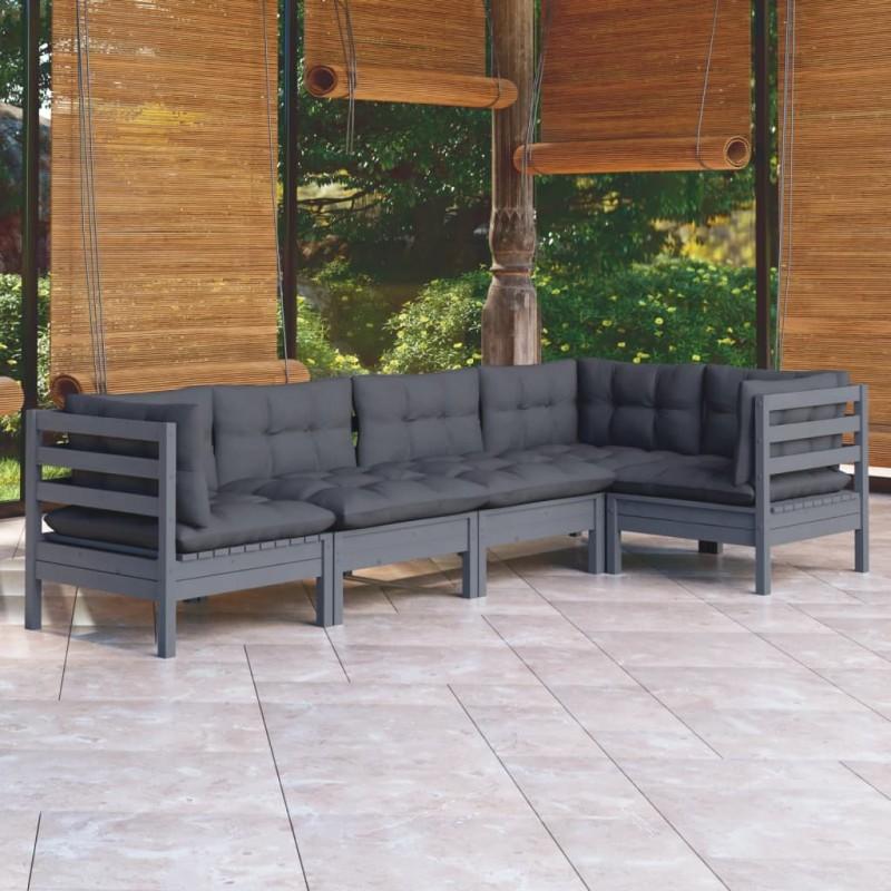 vidaXL Escalera para toallas con 5 peldaños de bambú 150 cm