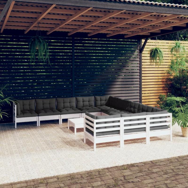 vidaXL Cobertizo doble contenedor basura ratán 153x78x120 cm negro