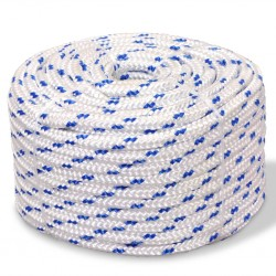 vidaXL Mosquitera con bisagras para puertas blanca 100x215 cm