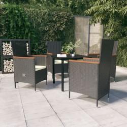 vidaXL Mesa alta de cocina madera teca y acero inoxidable 160x60x105cm