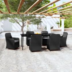vidaXL Sofá de esquina seccional y cojines 1 pza madera maciza acacia