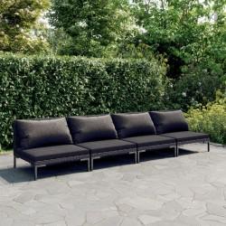 vidaXL Casetilla para leña acero galvanizado marrón 330x84x152 cm