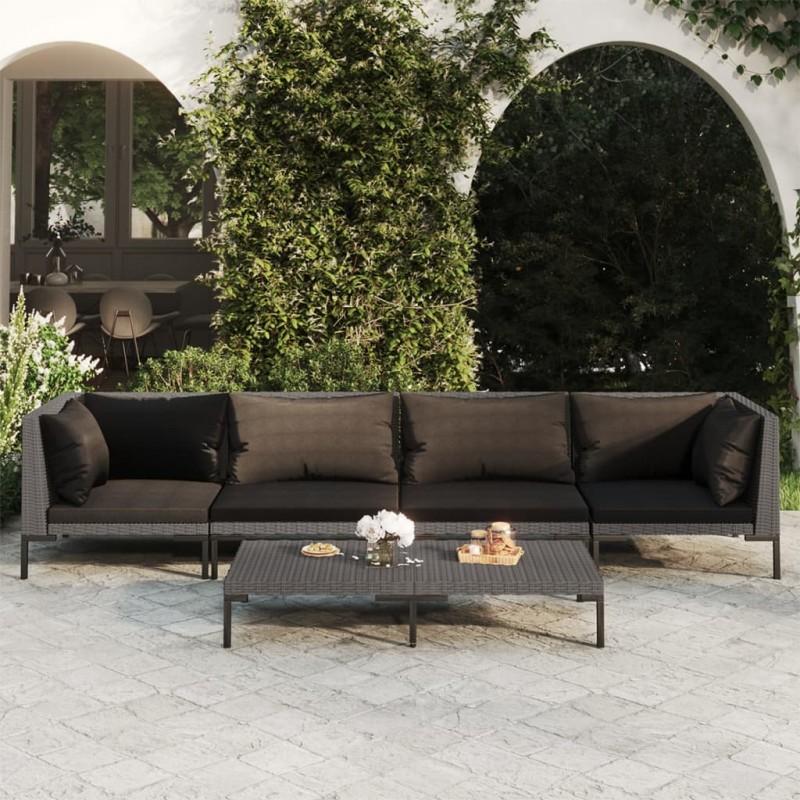 vidaXL Casetilla para leña acero galvanizado marrón 330x92x153 cm