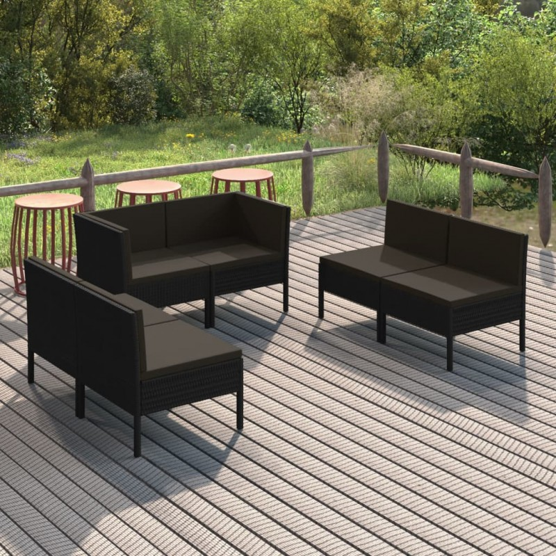 vidaXL Soporte de sombrilla en forma de ventilador 4 piezas negro