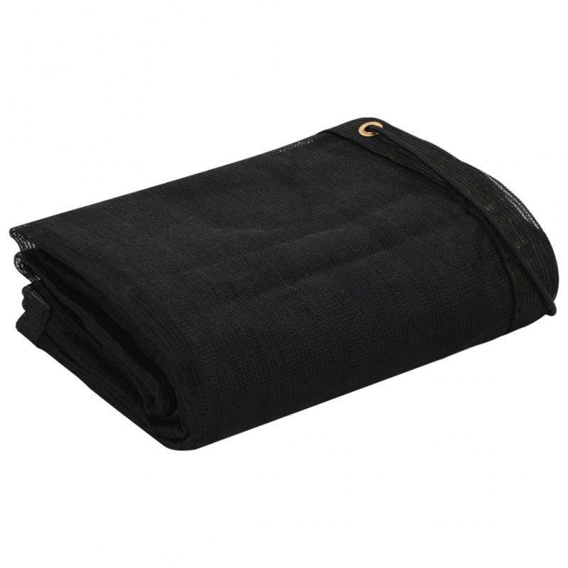 vidaXL Juego de barrera con postes con cadena de plástico 10 m