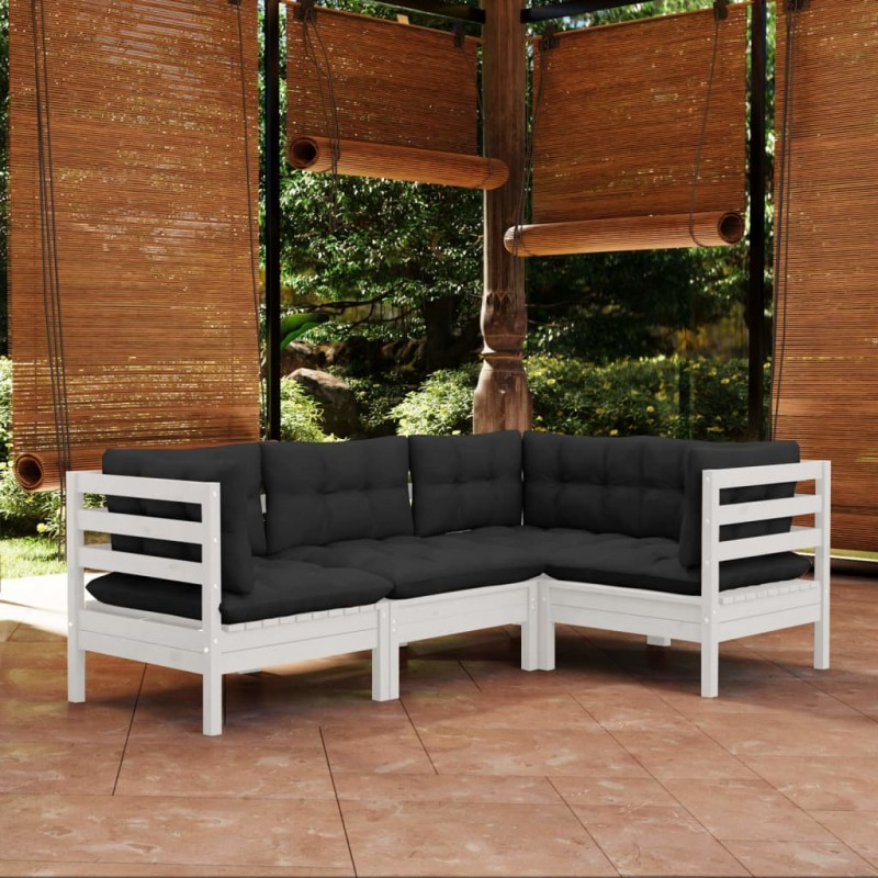 vidaXL Puente para jardín de madera de pino impregnada 170x74 cm