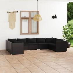vidaXL Estante de pared para aparatos DVD 2 niveles de vidrio negro