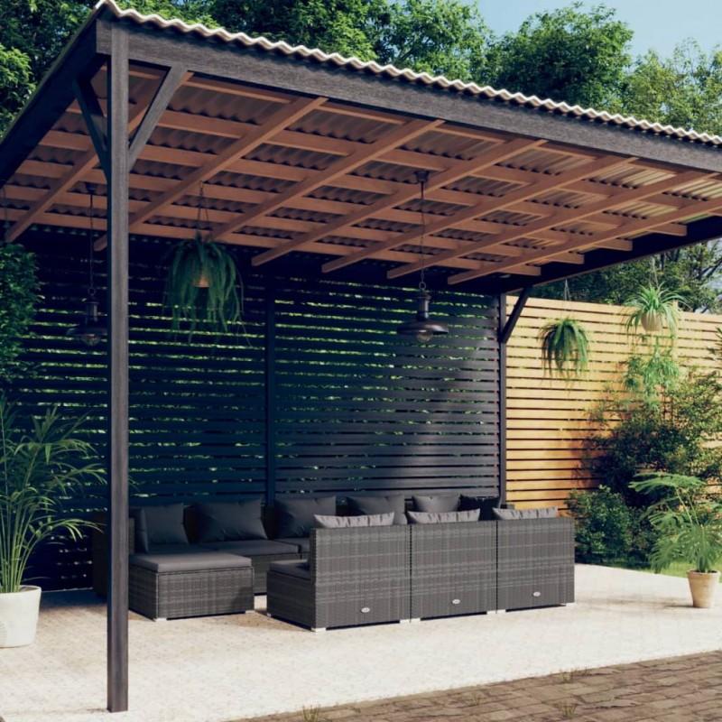 vidaXL Ventilador de techo adornado con lámpara 128 cm blanco
