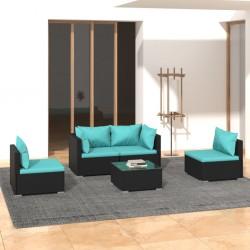 vidaXL Batería de cocina 8 piezas aluminio negro
