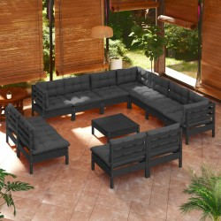 vidaXL Botella de vidrio con cierre de clip 12 piezas 1 L