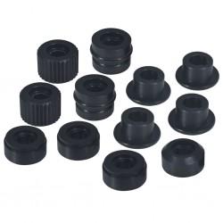 vidaXL Maletín protector de equipo negro 27x24,6x12,4 cm