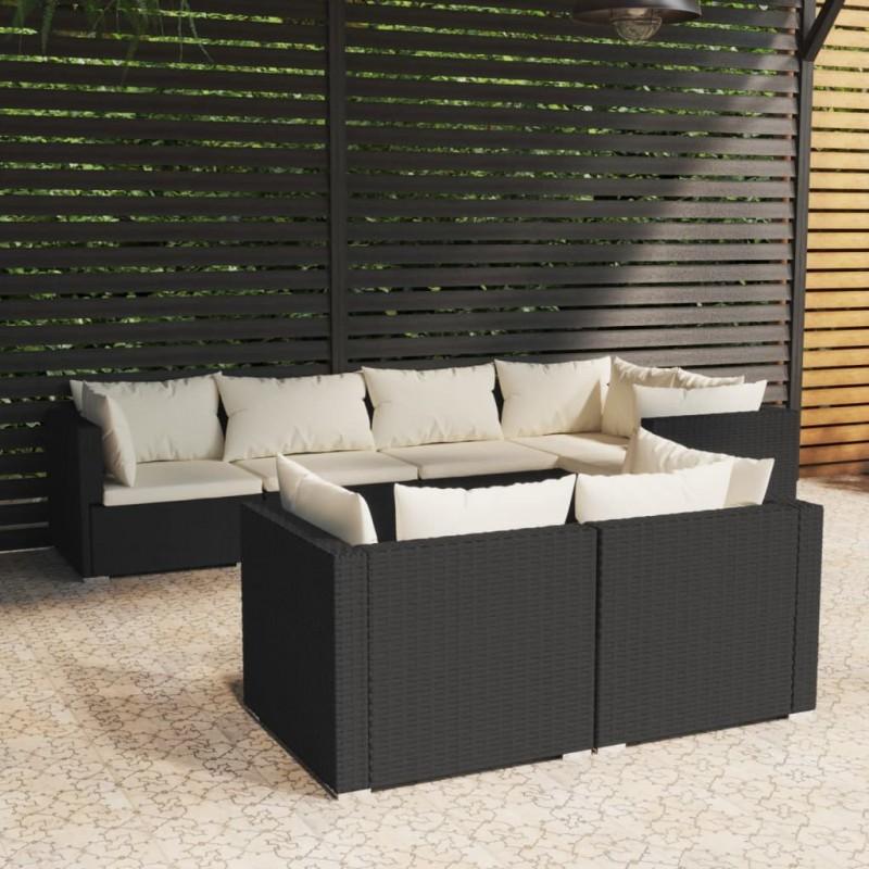 vidaXL Barrera de cinta retráctil negro 200 cm