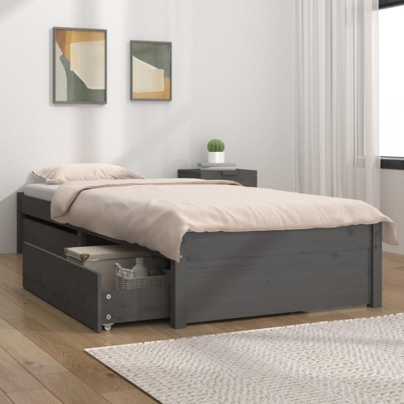 vidaXL Estantería para CDs de aglomerado gris hormigón 21x16x88 cm