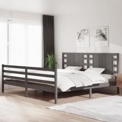 vidaXL Mueble para TV aglomerado gris 120x35x43cm