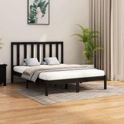 vidaXL Estructura de cama con LED tela verde 160x200 cm