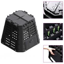 vidaXL Valla de seguridad estacada con puntas acero negro 600x175 cm