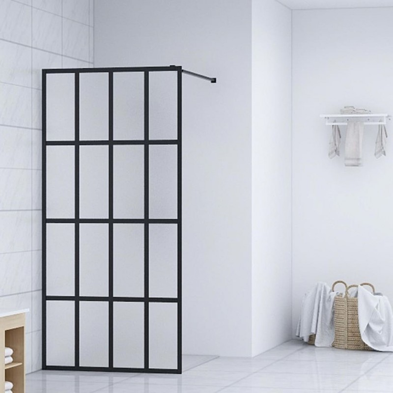 vidaXL Persiana enrollable de ducha 100x240 cm blanco