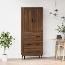 vidaXL Mueble para TV de aglomerado negro 100x30x30 cm