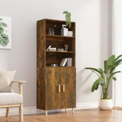 vidaXL Mueble para TV de aglomerado negro 80x30x30 cm