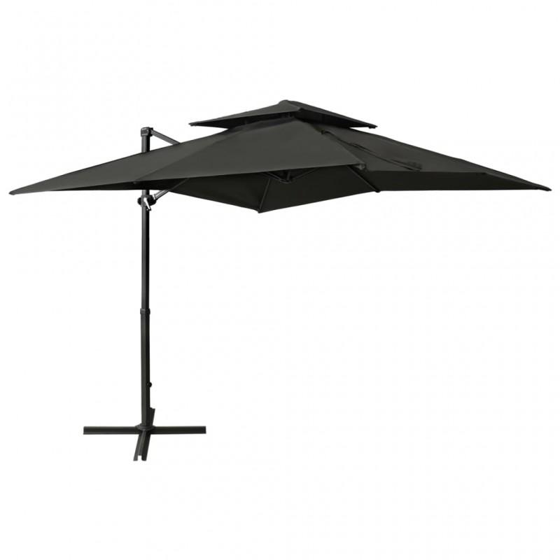 vidaXL Caja fuerte para llaves gris oscuro 30x10x36,5 cm