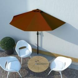 vidaXL Lavabo de lujo redondo cerámica verde oscuro mate 32,5x14 cm