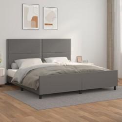 vidaXL Mesa de jardín ratán PE gris madera acacia maciza 190x90x75 cm