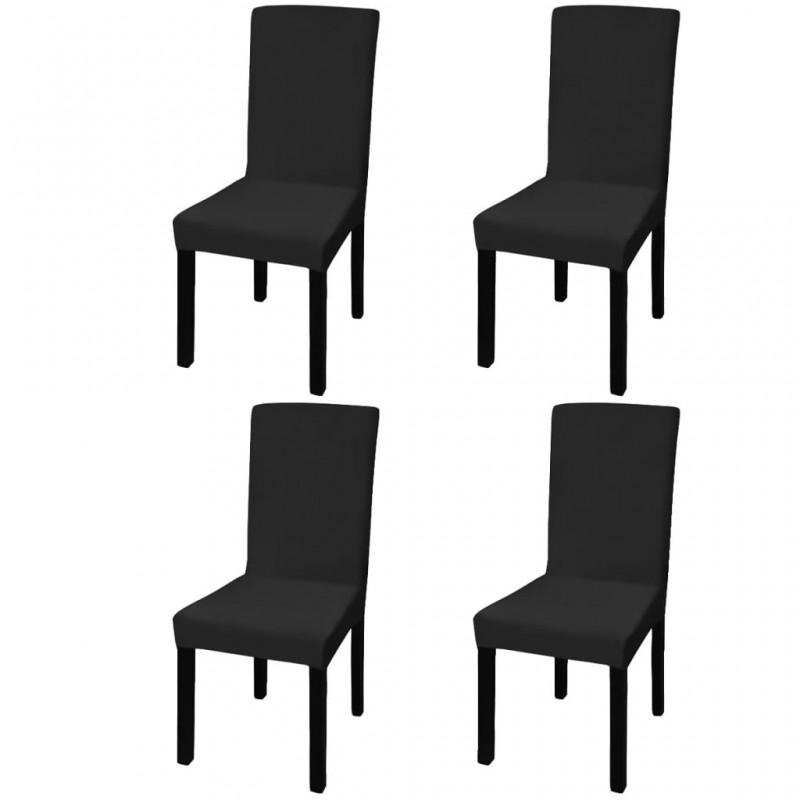 4 fundas blancas para cojines de algodón, 80 x 80 cm