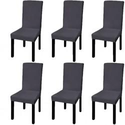 4 fundas negras para cojines de algodón, 80 x 80 cm