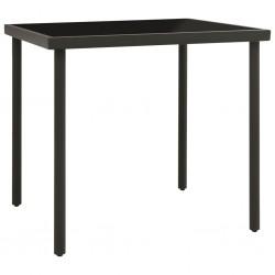 vidaXL Reloj de pared de metal negro 80 cm