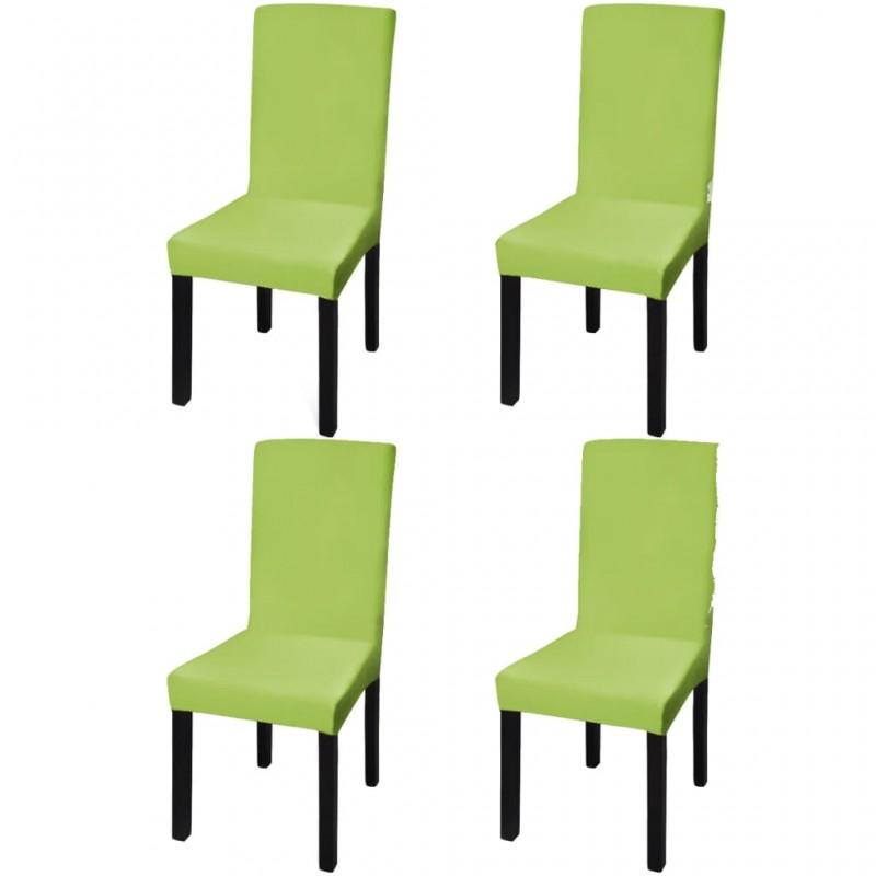 4 fundas grises para cojines de algodón, 80 x 80 cm