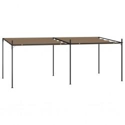 vidaXL Felpudo lavable marrón 40x60 cm