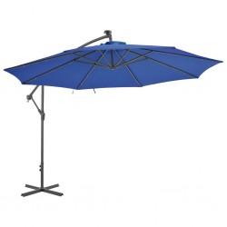 vidaXL Felpudo lavable azul cian 60x180 cm
