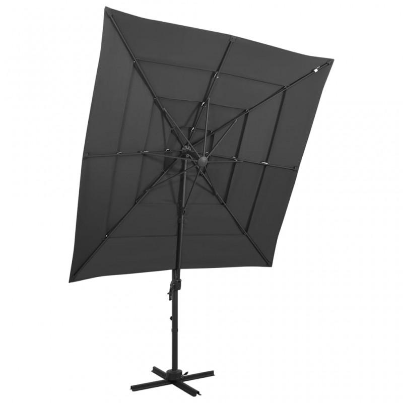 vidaXL Taburete de tambor ajustable redondo negro
