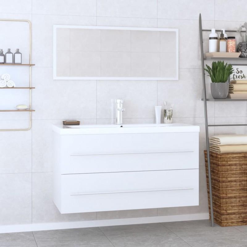 vidaXL Altavoces estéreo de pared 2 uds blanco interior/exterior 80 W
