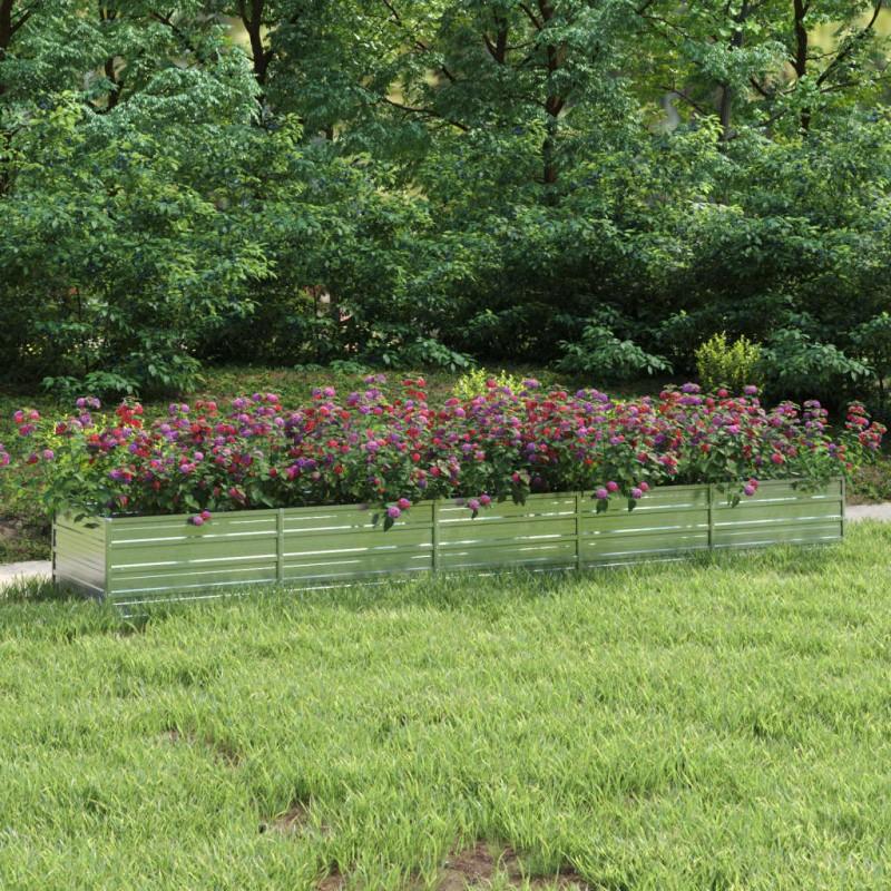 vidaXL Tumbona de suelo plegable de tela gris claro