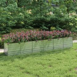 vidaXL Tumbona de suelo plegable de tela azul