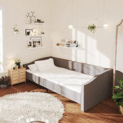 vidaXL Tumbona de suelo plegable de tela verde