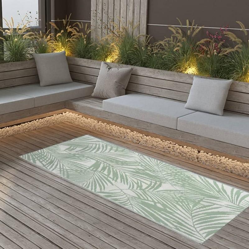 vidaXL Tumbona de suelo plegable de tela amarillo mostaza