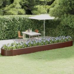 vidaXL Mesa de jardín ratán sintético madera acacia maciza 240x90x74cm