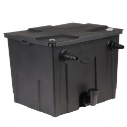 vidaXL Caja de almacenaje de jardín ratán sintético negro 130x65x115 cm