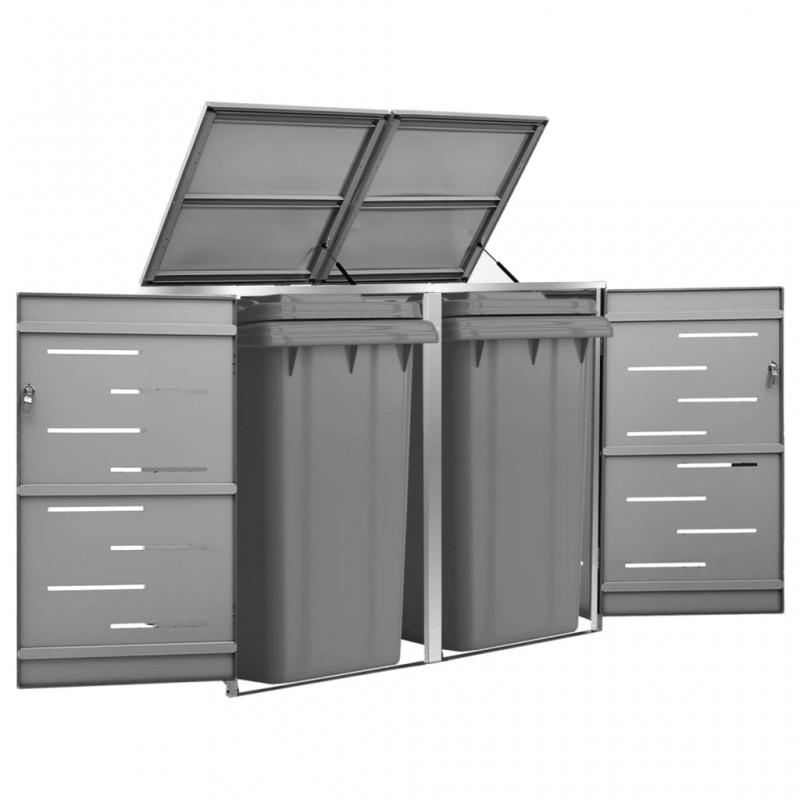 vidaXL Gallinero de acero galvanizado 4x2x2 m