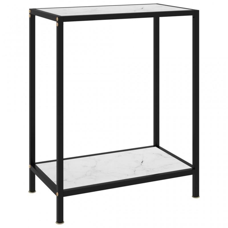 vidaXL Estantería de cocina vidrio templado negro 49,5x35x26 cm