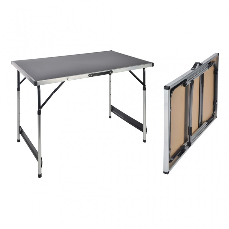 vidaXL Estructura de banco de trabajo metal negro y rojo 120x57x79 cm