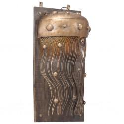 vidaXL Estructura de cama dosel 2 cajones madera pino gris 140x200 cm