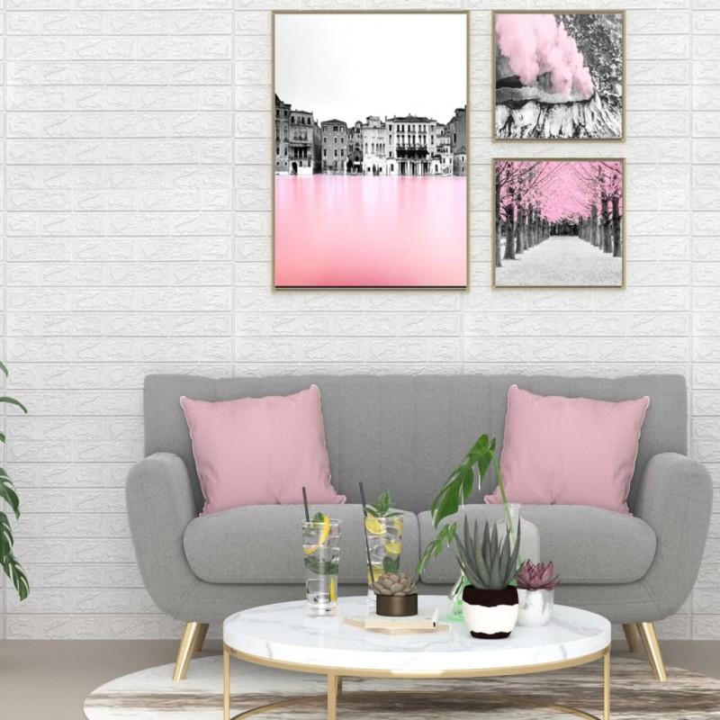 vidaXL Persiana enrollable aluminio blanca 100x100 cm