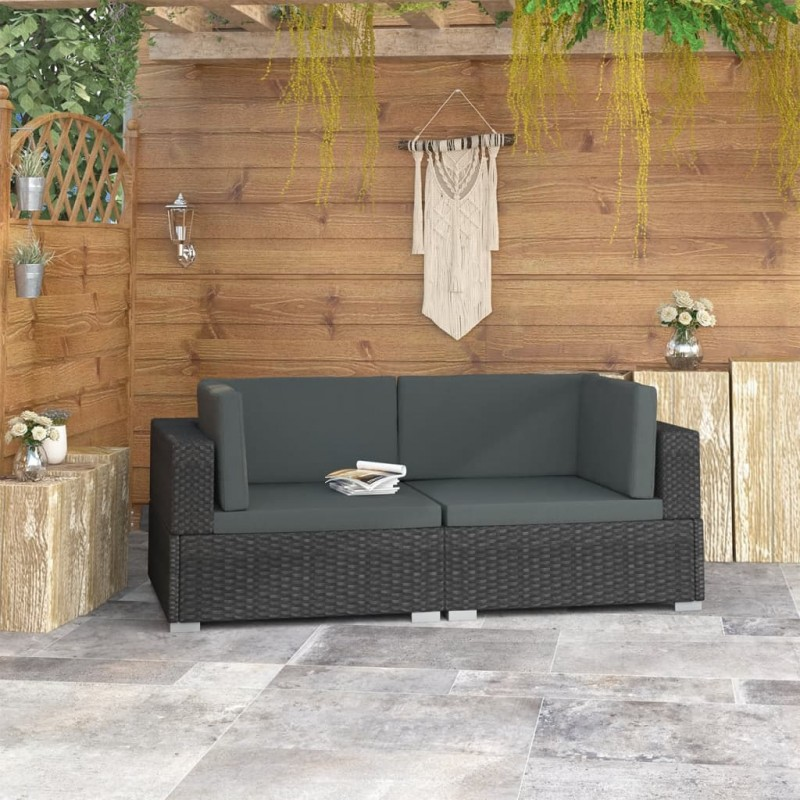 vidaXL Compostador de jardín negro 1200 L