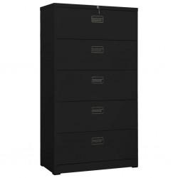 vidaXL Mueble para TV negro de vidrio negro 100x40x40 cm