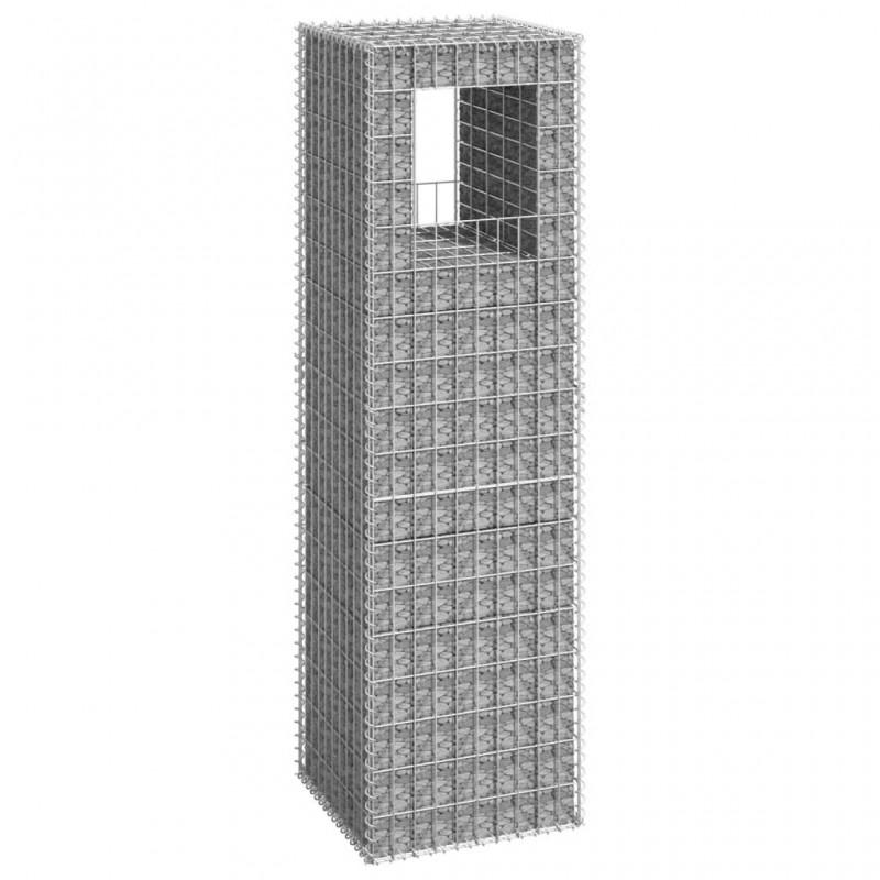 vidaXL Armario de estilo industrial de acero negro 90x40x140 cm